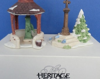 Dept 56 Village Well and Holy Cross HV Accessories