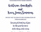 Katherine Wedding Invite Suite [Custom]