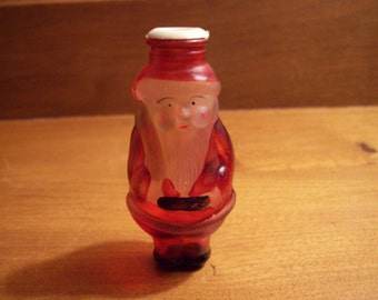 Vintage Frosted Glass Santa Claus Christmas LIght Cover