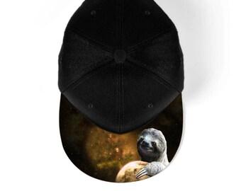 Planet sloth snapback hat, baseball hat, cap 7M003A