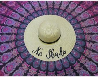 No Shade Beach Hat, Floppy Hat, Straw Hat, Ladies Sun Hat, Bachelorette Party, Girls Weekend