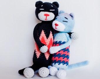 Little amineko cat tapestry crochet