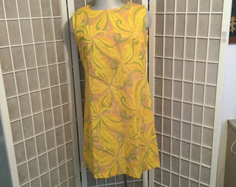 Vintage 1960s Twiggy Dress Size Medium Measurements Included