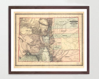 Colorado Map -CO Map - Map Art - Map Decor - State Map - Colorado Art - Colorado Decor - Springs - Denver Map City Map - Colorado Poster