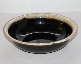 "1950's PFALTZGRAFF Gourmet BROWN DRIP 12"" Large Salad Bowl 3 Qt. #224"