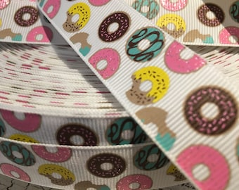 "7/8"" Doughnut Glitter grosgrain ribbon sold by the yard"