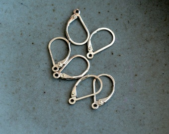Sterling Silver Lever back Earring Clasp Ear Wires Leverback Earring Hooks 925 Silver Earring Making Findings High Quality Pairs, KP17-0207