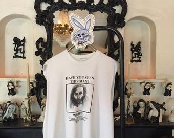 "Twin Peaks shirt 1990s vintage t shirt David Lynch tshirt rare 90s ""Have You Seen This Man? Bob"" t-shirt 1990s cult T.V tee 90s grunge shirt"