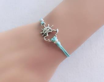 Sun Bracelet,Charm Bracelet,Gift For Women,Friendship Bracelet,cord bracelet silver sun bracelet fashion bracelet cord sun bracelet