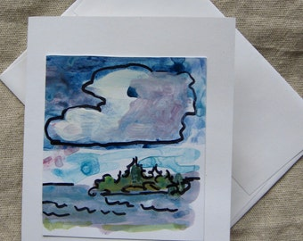 Original Art - Hand Painted - Greeting Card #1 - Unique - Made in Maine