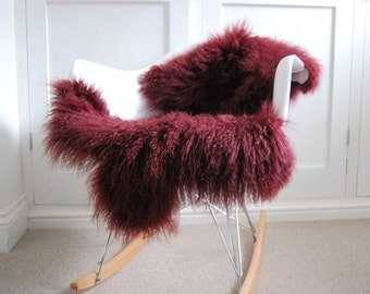 Red Fur Rug Etsy