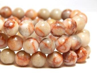 6mm Red Vein Jasper, 6mm Red Line Jasper, 6mm Red Marble Jasper, 6mm Gemstones, Round Gemstone Beads, Round Gemstones, Natural Beads, B-30C