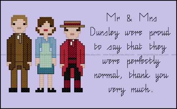 Harry Potter Parody Dursley Family Cross Stitch Pdf