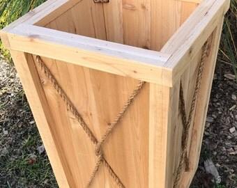 Tall planter/flower box/Entrance planter/Wedding/Outdoor wood planter/Wood planter box