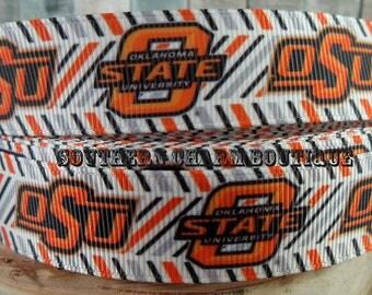 3 yards of Oklahoma State University grosgrain ribbon
