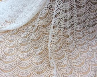 1yard off white  Eyelash Lace Fabric,black Eyelash Lace Fabric by the Yard or Wholesale