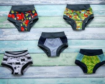 Boys Cotton Underwear set, 5 Pair Pack, Elastic Free Cotton Briefs, Organic Cotton Underwear, Soft Jersey Fabric