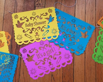 Baby Shower Papel Picado