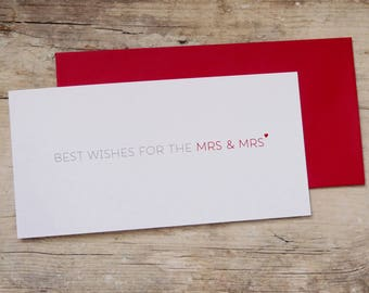 best wishes for the mrs and mrs