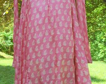 Bohemian Maxi  Silk Dress