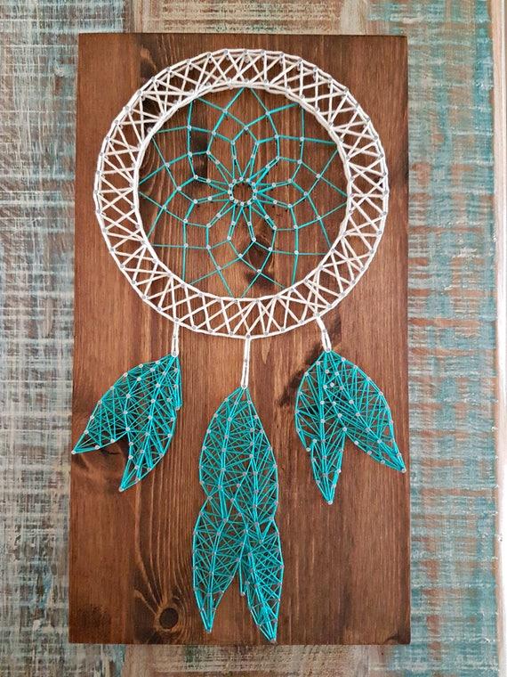 dream catcher string art. Black Bedroom Furniture Sets. Home Design Ideas