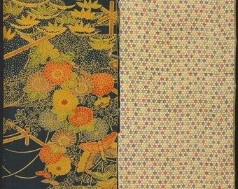 Vintage kimono silk fabric 2 pcs #7437