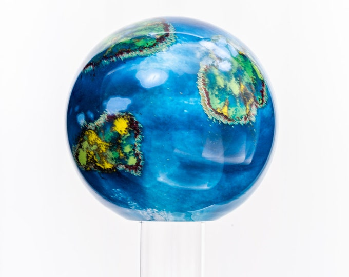 Hand-Blown World Paperweight