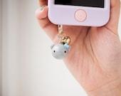 Cute Grey Cat Phone Plug ...