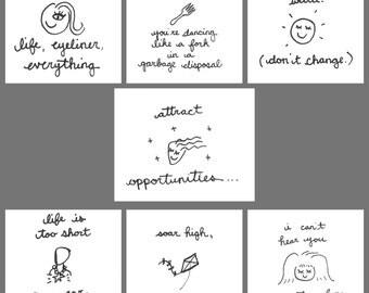 BittyDoodles - Hand-Doodled card