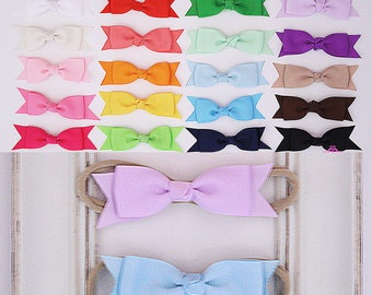 baby bows,  baby headband - baby shower gift - baby girl headband - infant headband - newborn headband - photo prop - hair bows - nylon