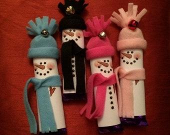 Cadbury's Christmas Chocolate Gift  - Galaxy, Cadbury's & Milky Bar Chocolate Snowman Candy Bars, Christmas Eve Box Filler, Table Decoration