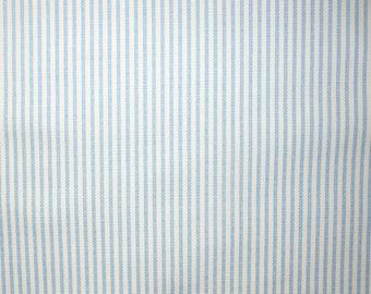 Fabric - Blue - Ticking stripe medium/heavyweight cotton canvas