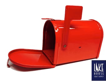 """Red Metal Mailbox 5"""". CLEARANCE SALE"""