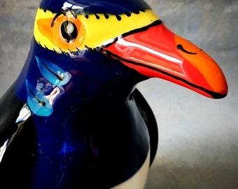 Glazed Pottery Penguin