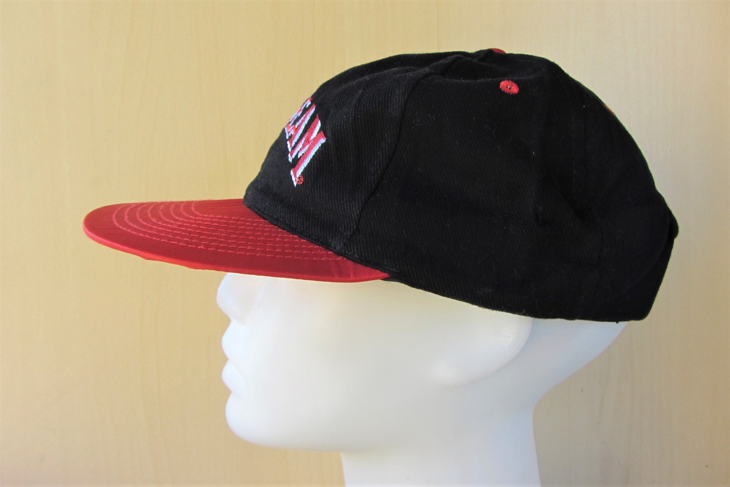 92d78e8228e JIM BEAM Kentucky Bourbon Whiskey Liquor Promo Vintage 90s Snapback Hat Two  Tone Adjustable Baseball Cap