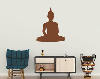 Buddha Wall Decal Etsy - Zen wall decals