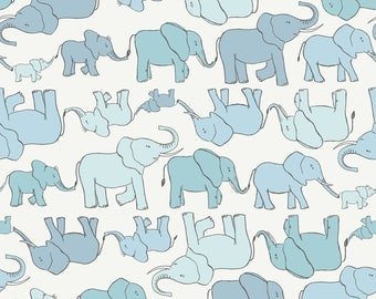 Welcome to the World Blue A216-1 by Lewis & Irene Cotton Fabric Yardage