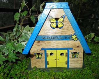 Fairy Garden House Butterfly Inn Cottage miniature door handmade