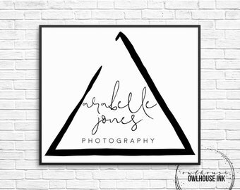 Premade Logo Design / Triangle Logo / Minimalist Logo/ Photographer Logo / Photography Logo / Business Logo / Watermark/ 127