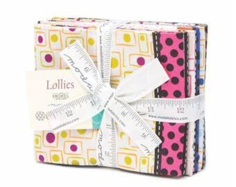 ON SALE Lollies Half Yard cut bundle by Moda designed by Jen Kingwell - 5 half yard cuts