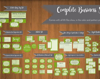 Business Bundle Personalized Digital Files - 85 Total Files - Business Cards, Labels, Frequent Buyer Cards, Hostess Rewards