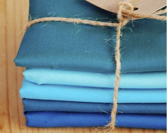 Blue Lagoon - Kona Cotton Solids by Robert Kaufman - Bundle