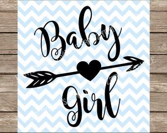 Baby Girl svg, girl, baby, girl svg, Baby svg, Newborn svg, newborn, Nursery svg, nursery, arrow, arrow svg, heart svg, heart, svg, svg file
