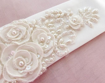 bridal belt, bridal belt pearl, bridal sash, bridal belt sash, wedding belt, bridal belt flowers, wedding sash belt, belt for wedding gown