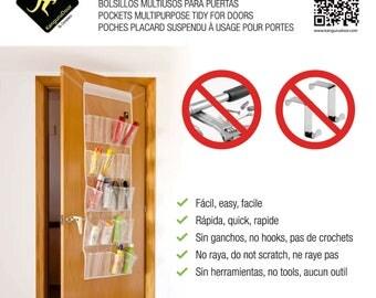 KanguruDoor Over Door Storage 20 Pockets in transparent PEVA