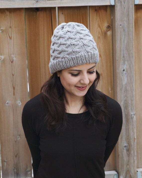 Pattern - Cable Knit Hat Pattern - Diamond Pattern Knit Hat
