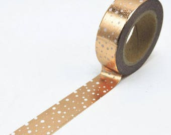 Rose Gold washi tape in snow flurry