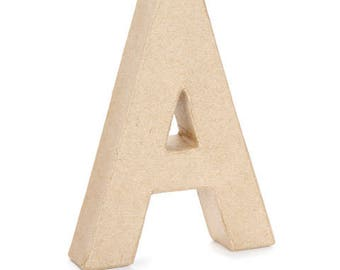 """Set of all 26 Paper Mache Letters 6"""" High - A-Z, the whole uppercase alphabet - These Cardboard Letters are fun to decorate!"""