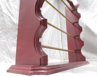 Elegant Ribbon Organizer Rack With Carry-Handle ~ Painted