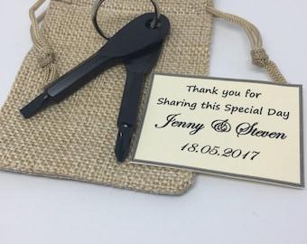 Wedding Favours for Men - Screwdriver Keychains